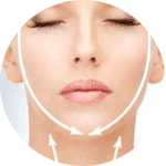 lifting cou ovale visage